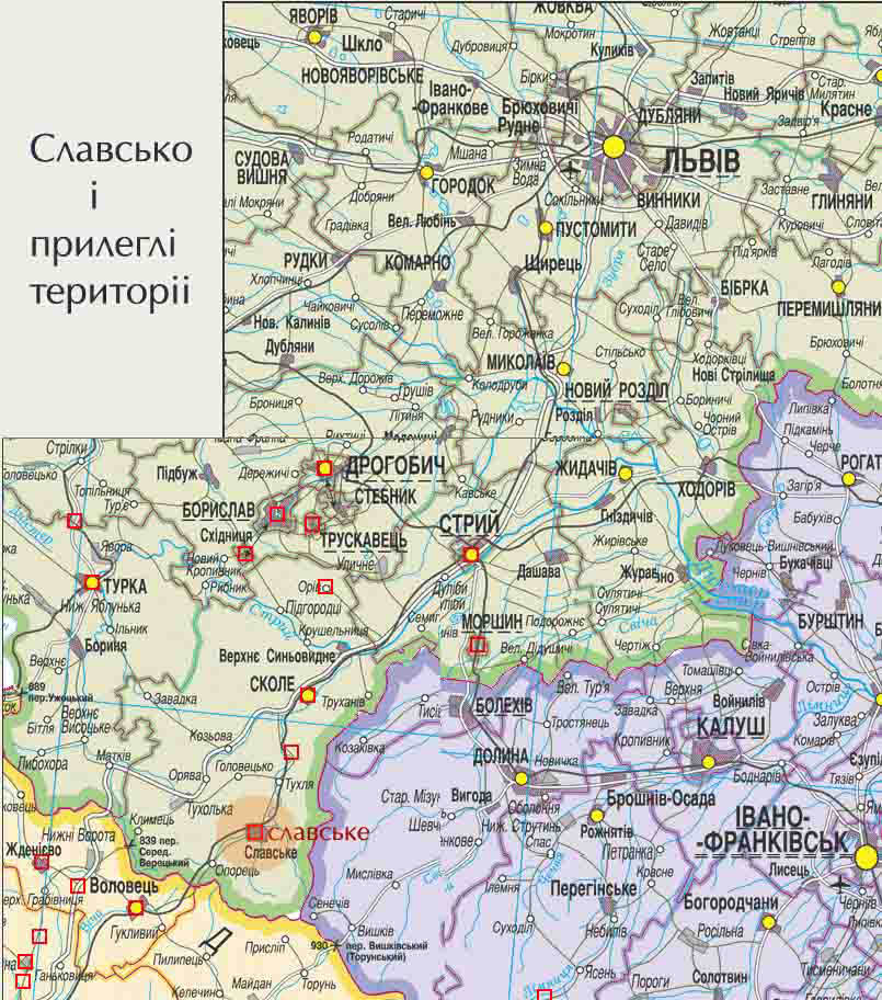 карта славское с улицами