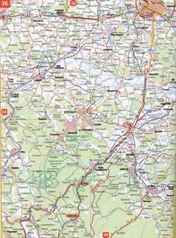 Карта автомобільних доріг львівської